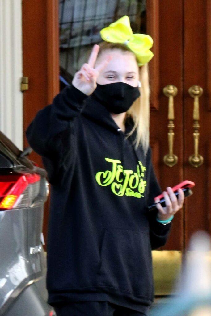 JoJo Siwa in a Black Hoodie