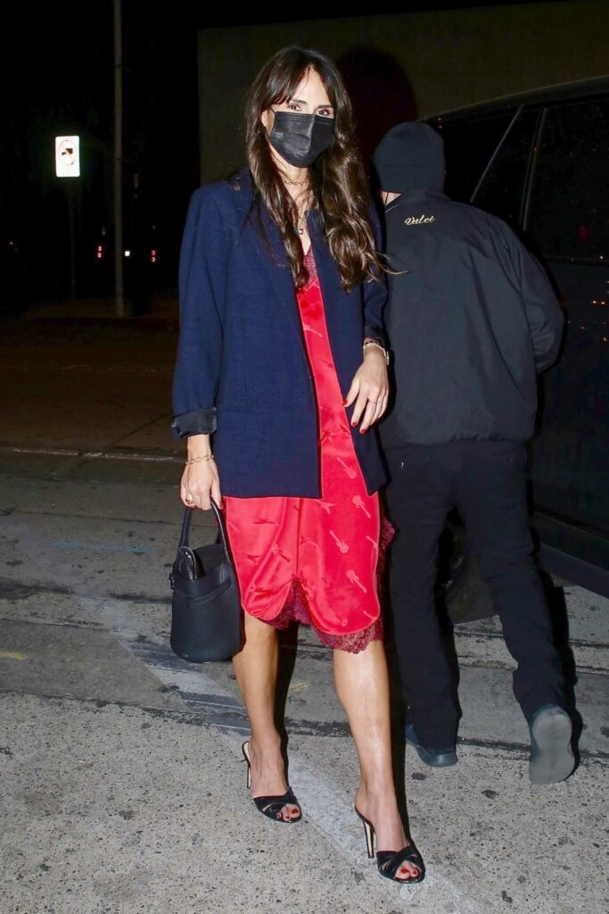 Jordana Brewster in a Red Dress