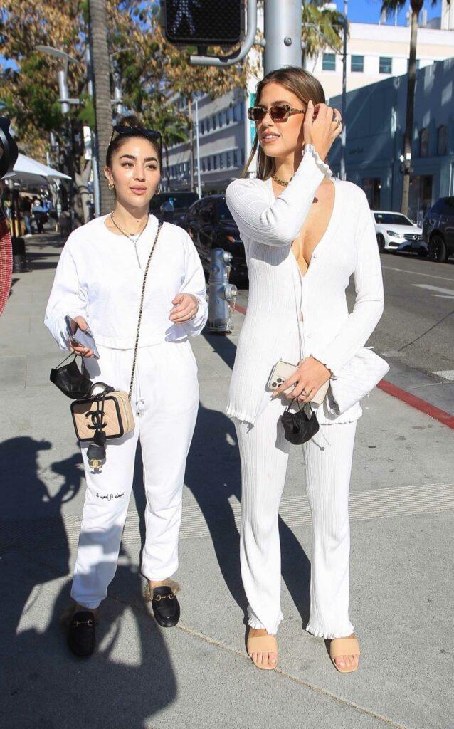 Kara del Toro in a White Suit