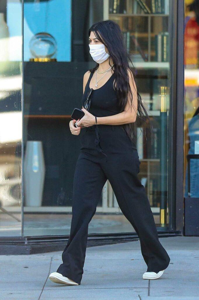 Kourtney Kardashian in a Black Tank Top