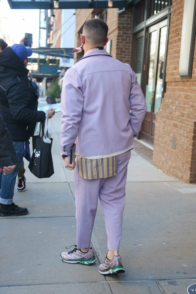 Nick Jonas in a Lilac Suit