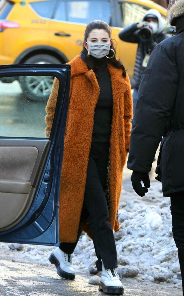 Selena Gomez in a White Boots