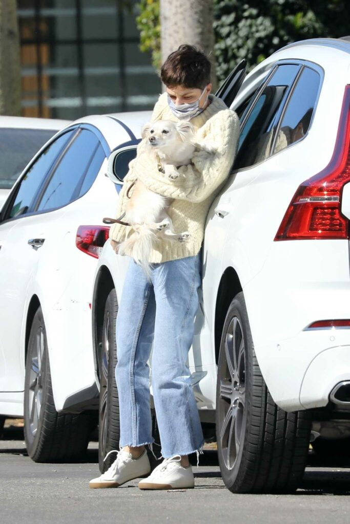 Selma Blair in a White Sweater
