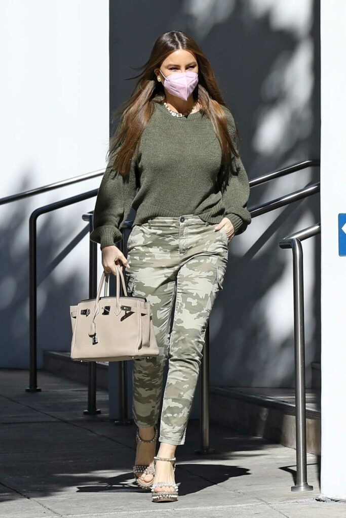 Sofia Vergara in a Camo Pants