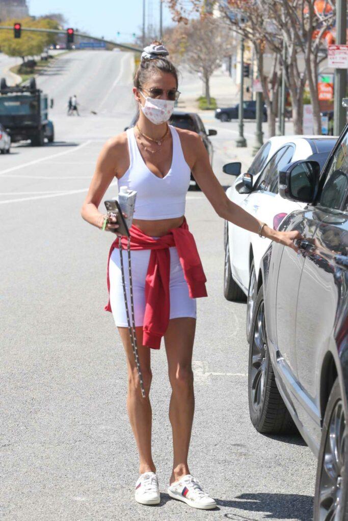 Alessandra Ambrosio in a White Top