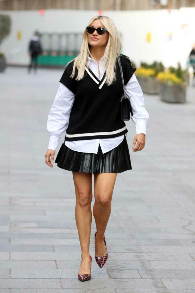 Ashley Roberts in a Black Mini Dress