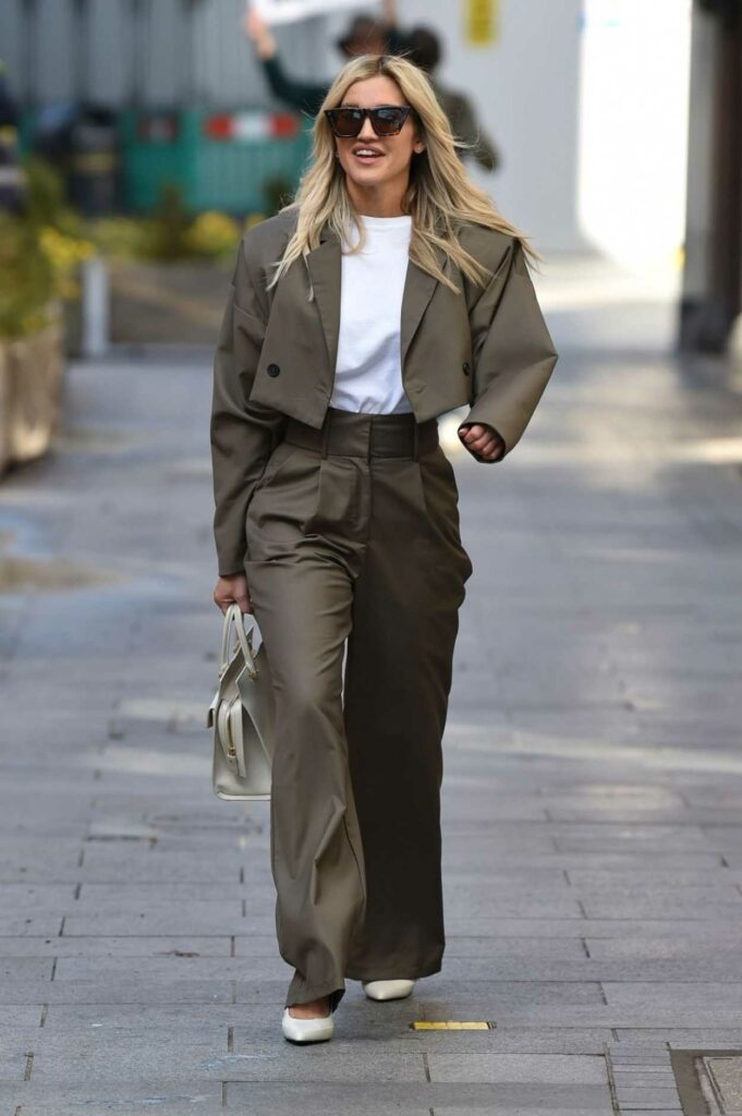 Ashley Roberts in a Grey Suit