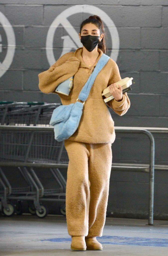 Chantel Jeffries in a Tan Sweatsuit