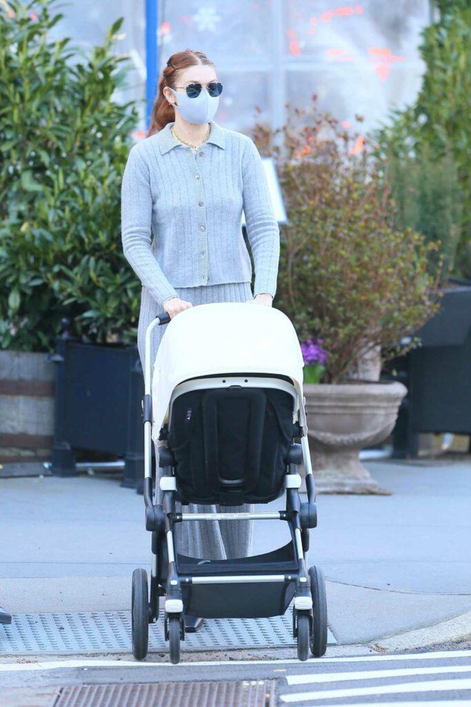 Gigi Hadid in a Grey Outfit