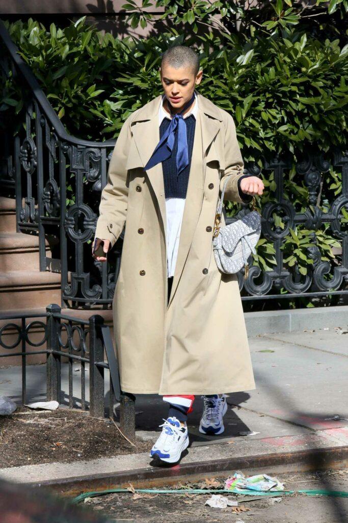 Jordan Alexander in a Beige Trench Coat