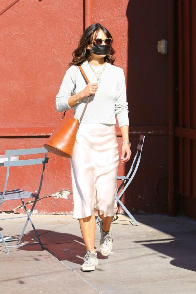 Jordana Brewster in a White Skirt