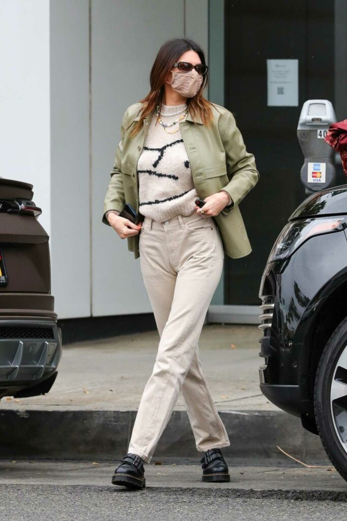 Kendall Jenner in an Olive Jacket