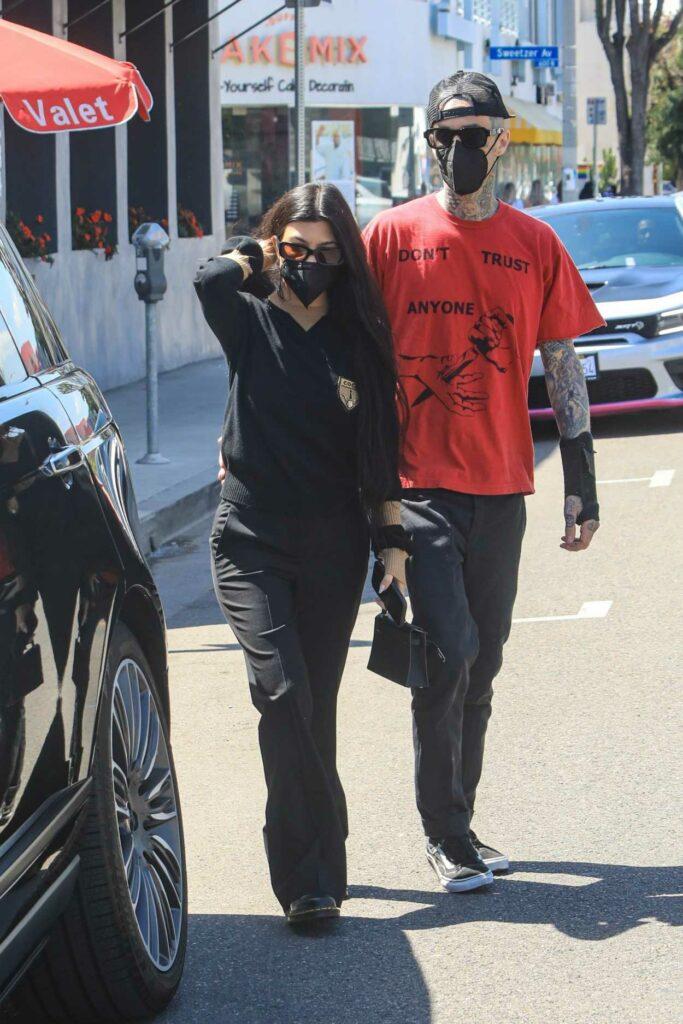 Kourtney Kardashian in a Black Outfit