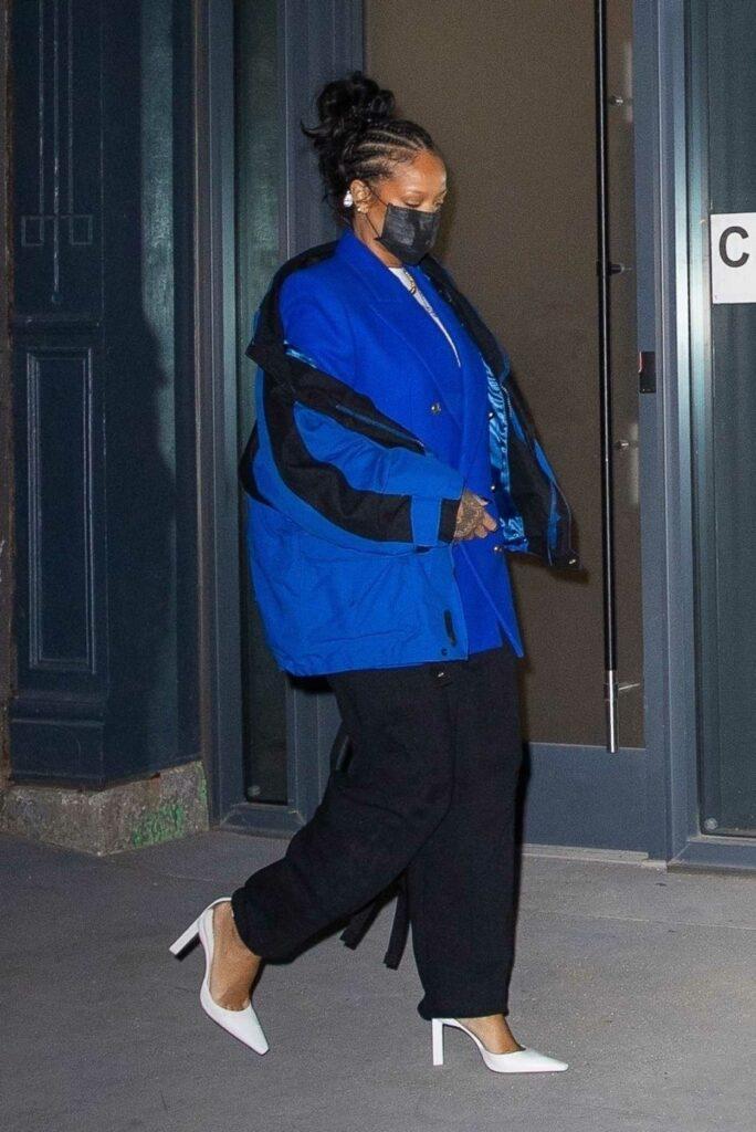 Rihanna in a Blue Jacket