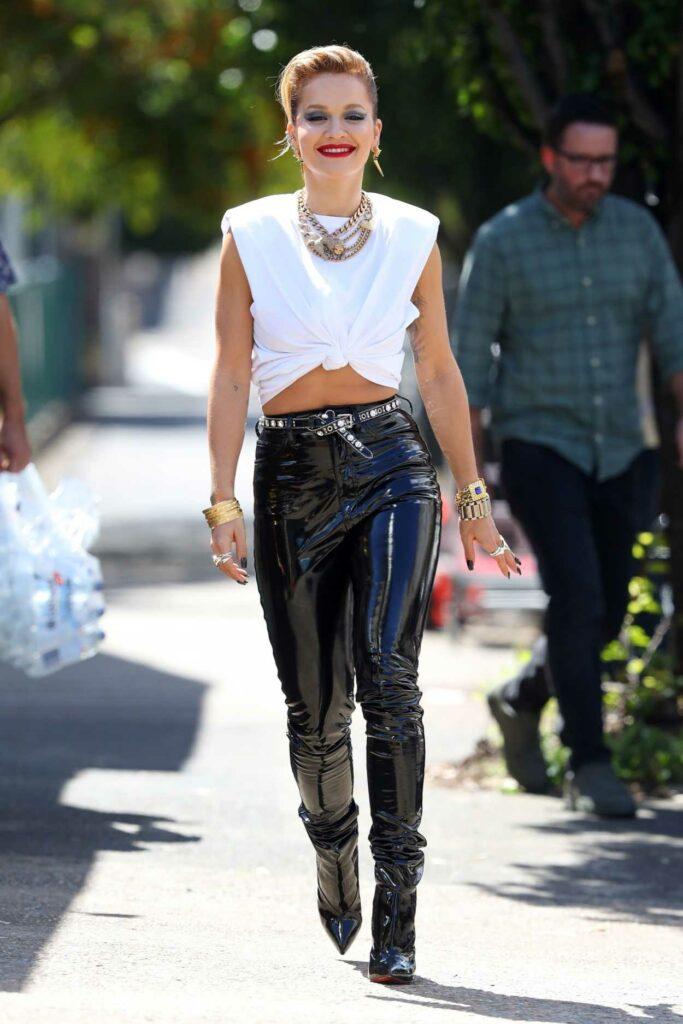 Rita Ora in a White Top