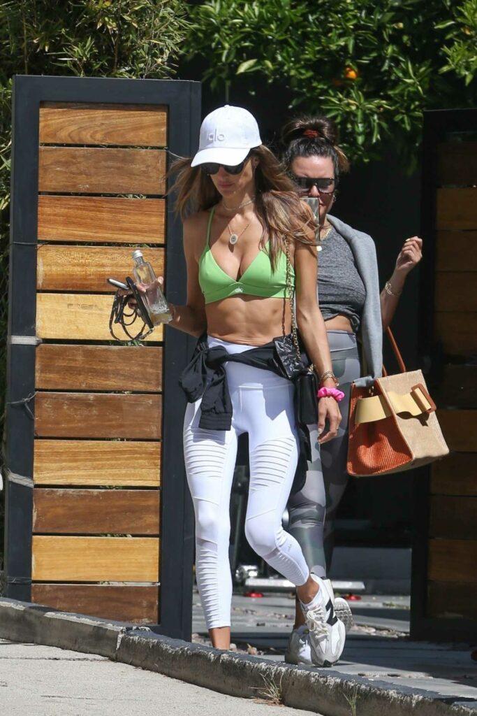 Alessandra Ambrosio in a Green Bikini Top