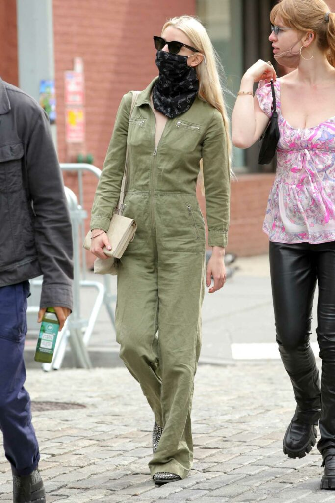 Anya Taylor-Joy in an Olive Jumpsuit