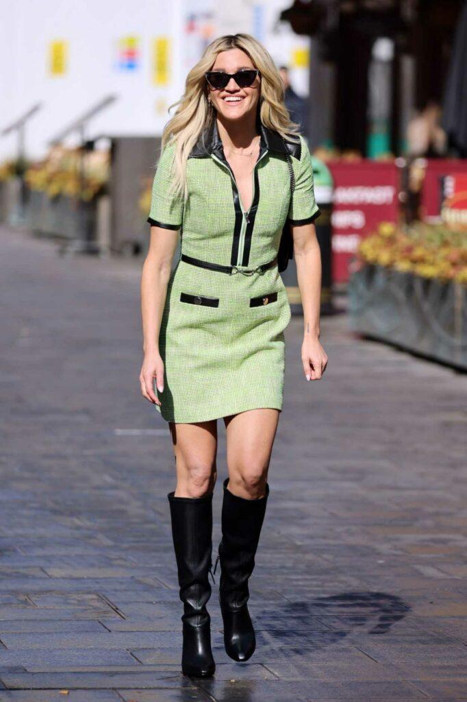 Ashley Roberts in a Green Mini Dress