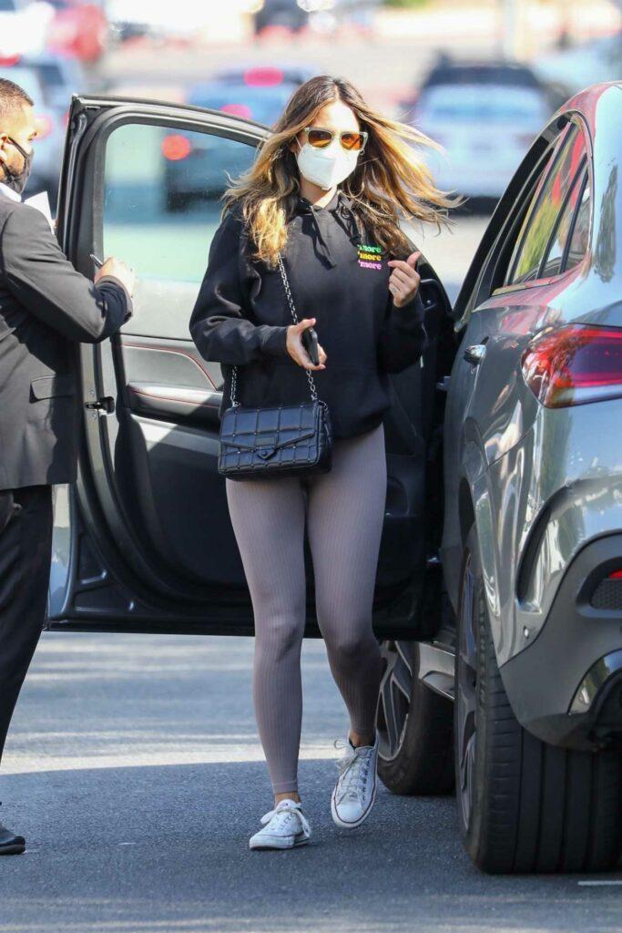 Eiza Gonzalez in a Black Hoodie