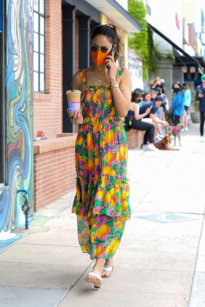 Eiza Gonzalez in a Fruit Print Summer Dress