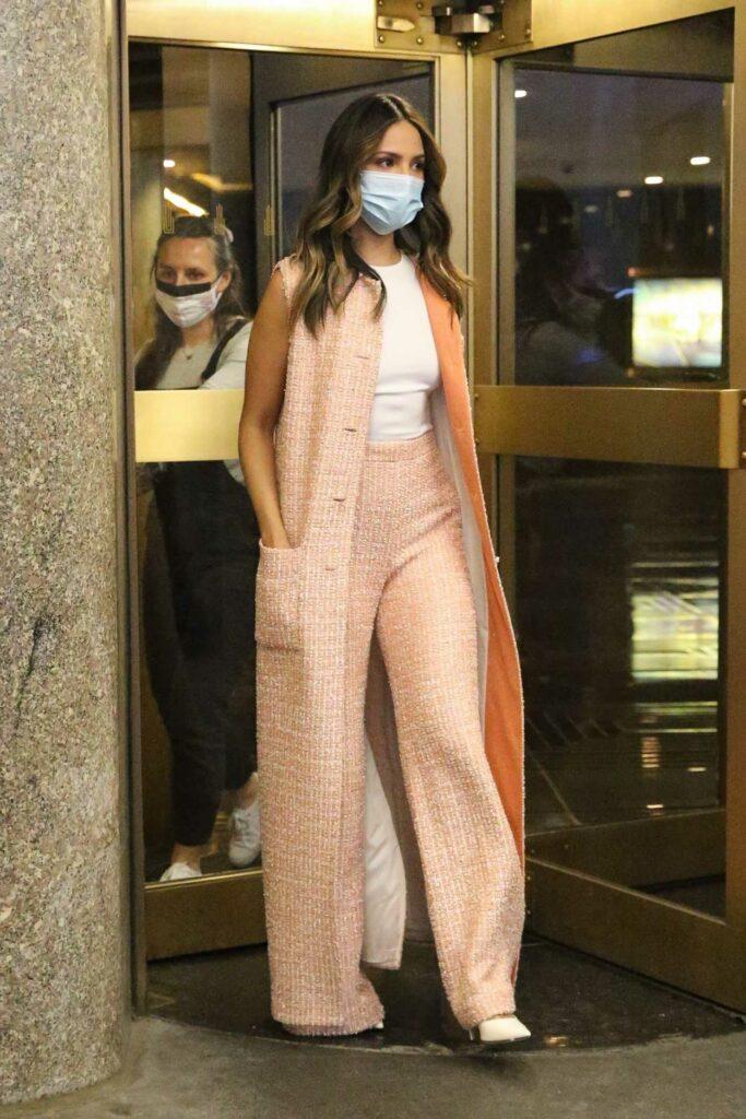 Eiza Gonzalez in a Protective Mask