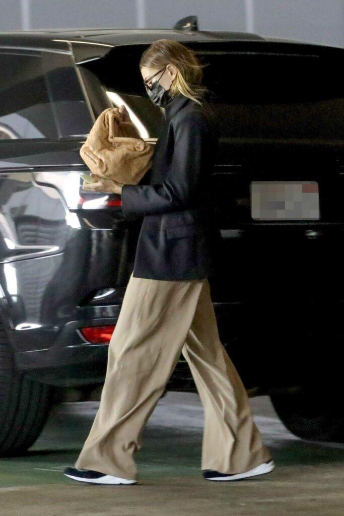 Hailey Bieber in a Black Blazer