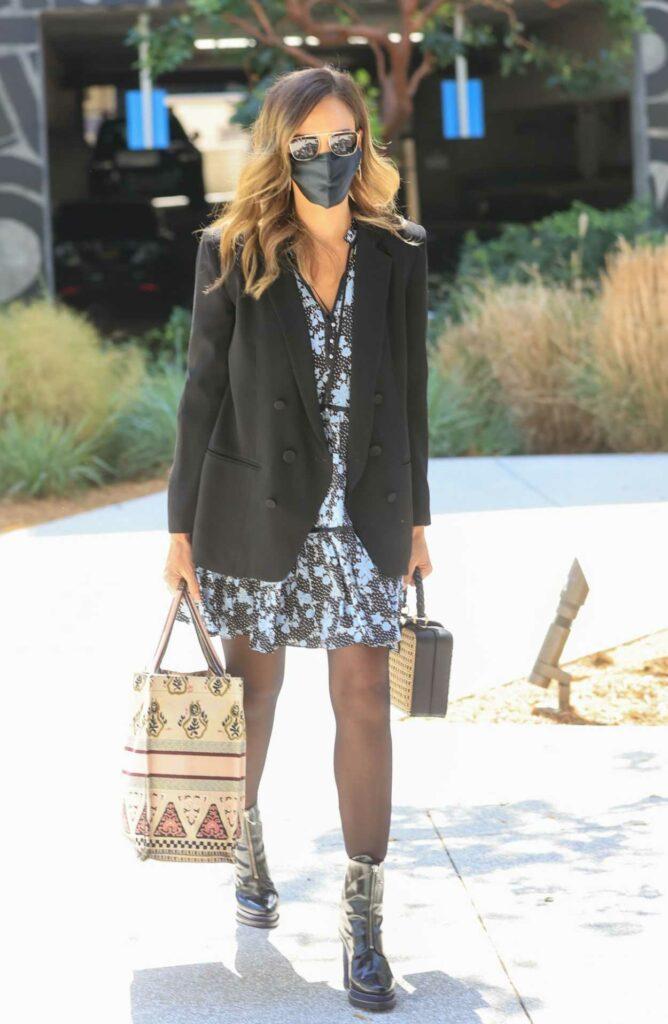 Jessica Alba in a Black Blazer