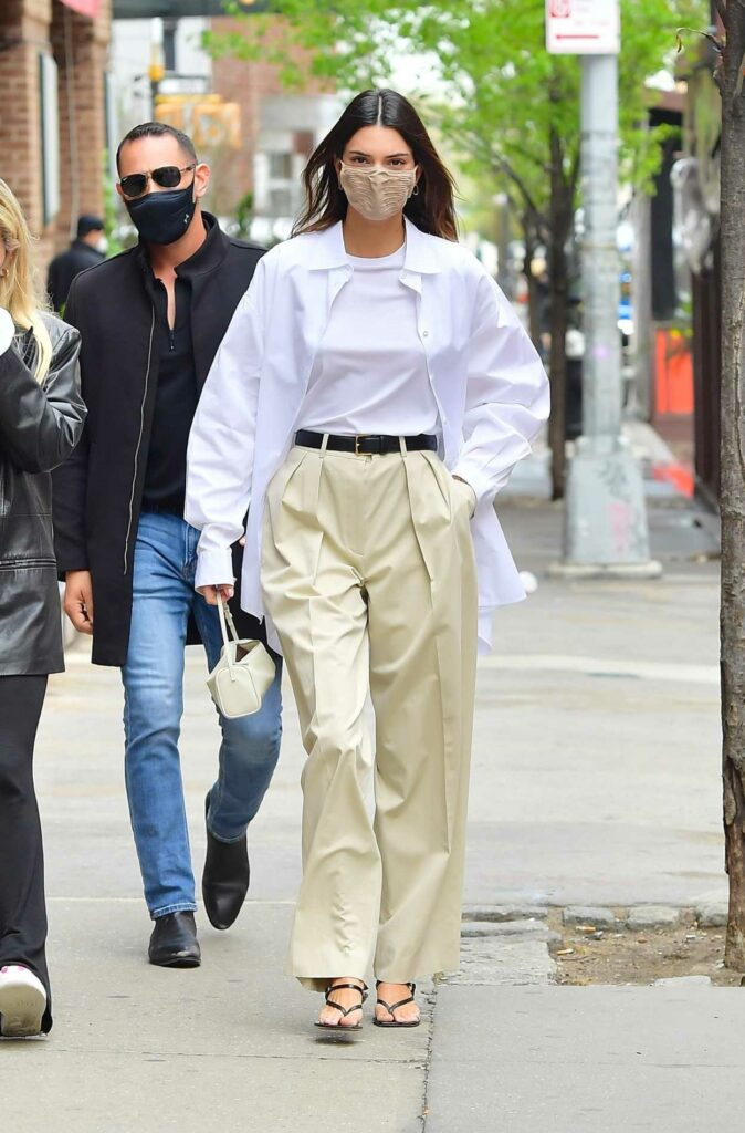 Kendall Jenner in a White Shirt