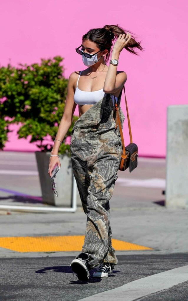 Madison Beer in a Camo Jumpsuit
