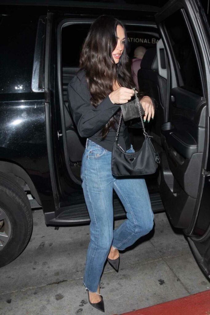 Megan Fox in a Black Blouse