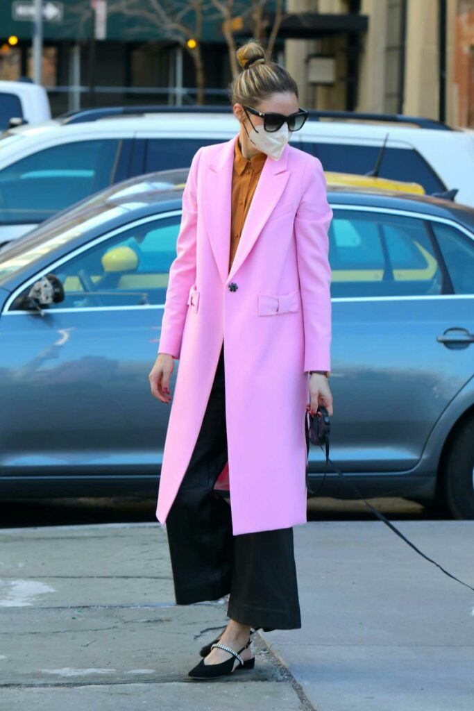Olivia Palermo in a Lilac Coat