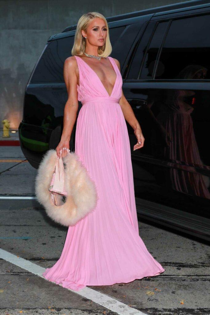 Paris Hilton in a Pink Dress