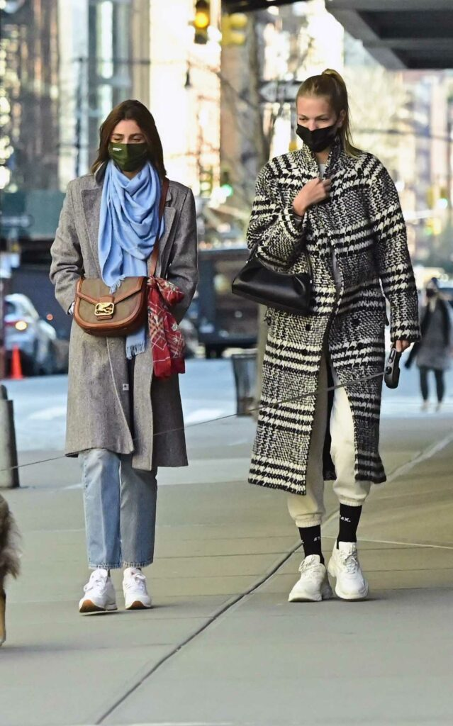 Taylor Hill in a Grey Coat