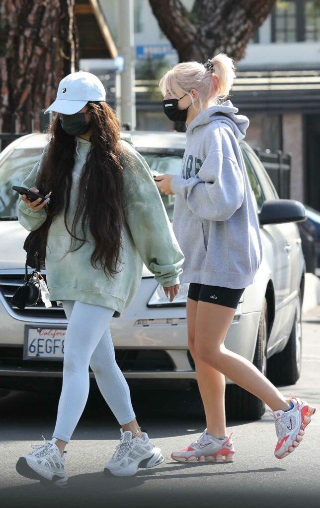 Vanessa Hudgens in a Grey Leggings