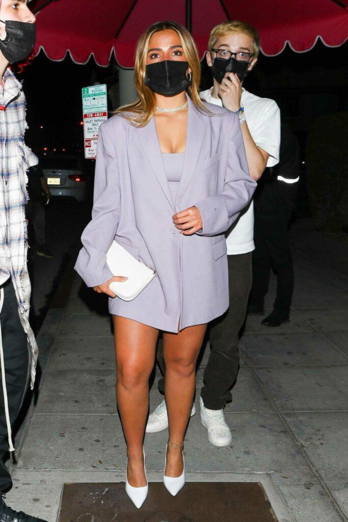 Addison Rae in a Purple Blazer