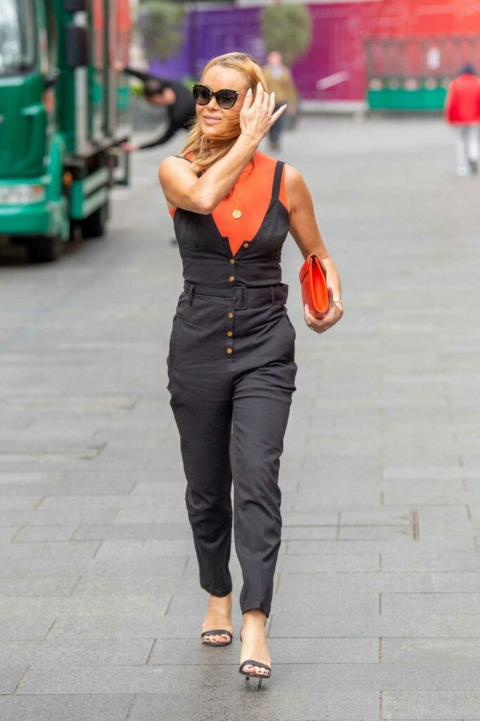 Amanda Holden in a Black Jumpsuit