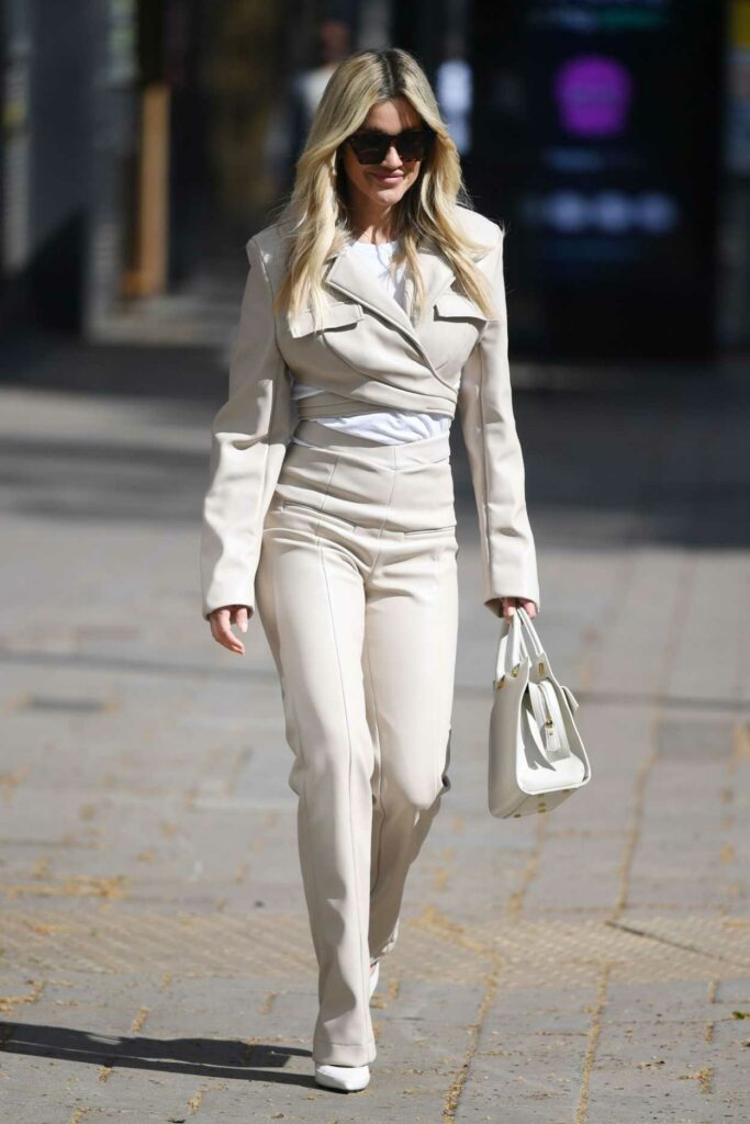 Ashley Roberts in a Beige Outfit