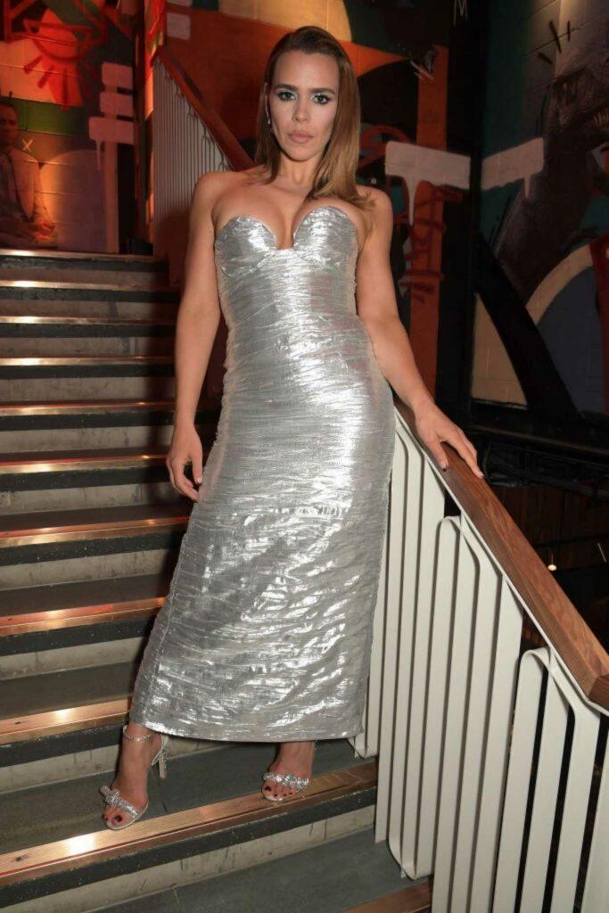 Billie Piper in a Silver Dress