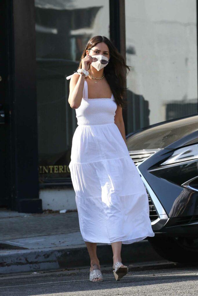 Eiza Gonzalez in a White Sundress