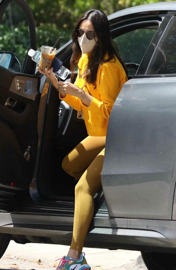 Eiza Gonzalez in a Yellow Sweatshirt