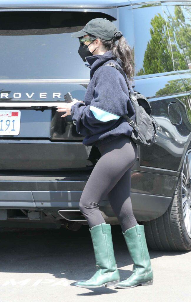 Kourtney Kardashian in a Black Cap