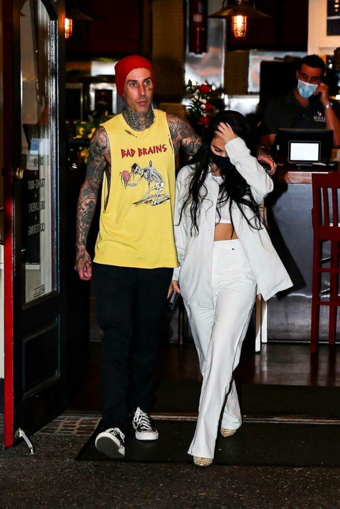 Kourtney Kardashian in a White Outfit