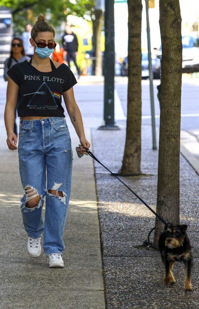 Lili Reinhart in a Blue Ripped Jeans