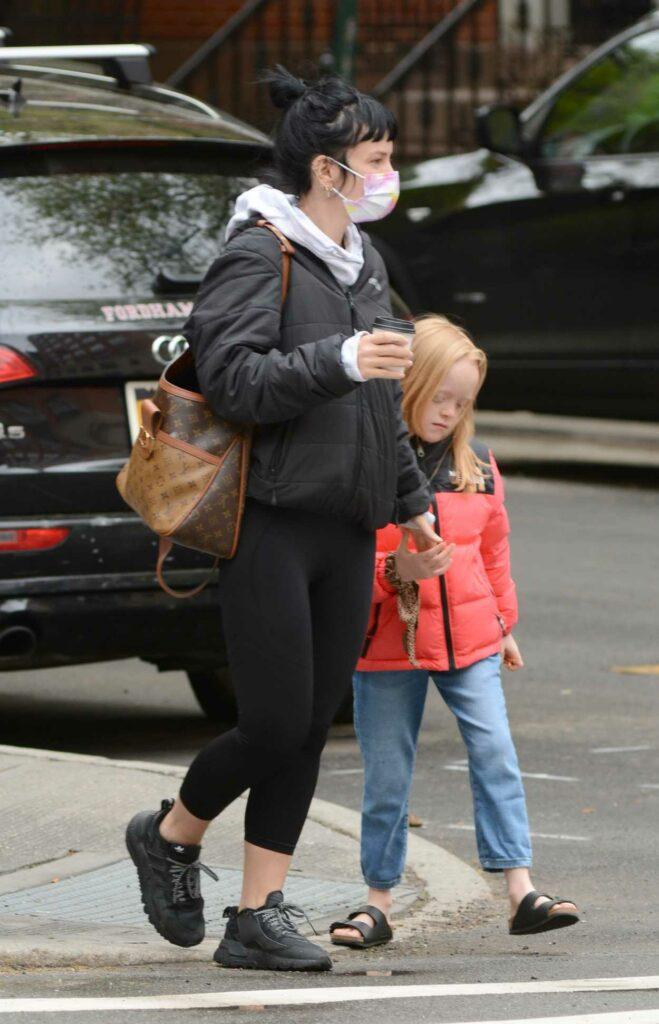 Lily Allen in a Black Jacket