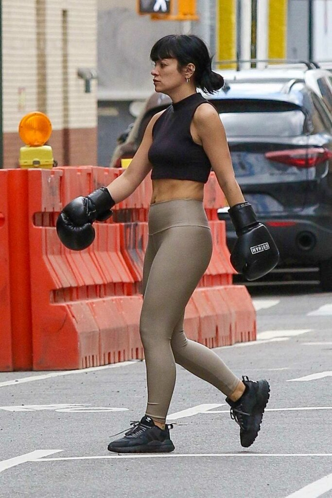 Lily Allen in a Boxing Gloves