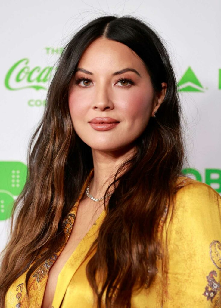 Olivia Munn in a Yellow Suit