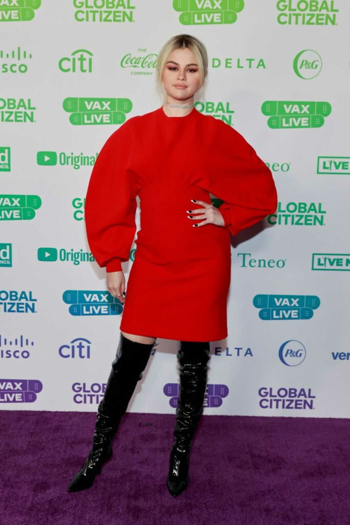 Selena Gomez in a Red Dress