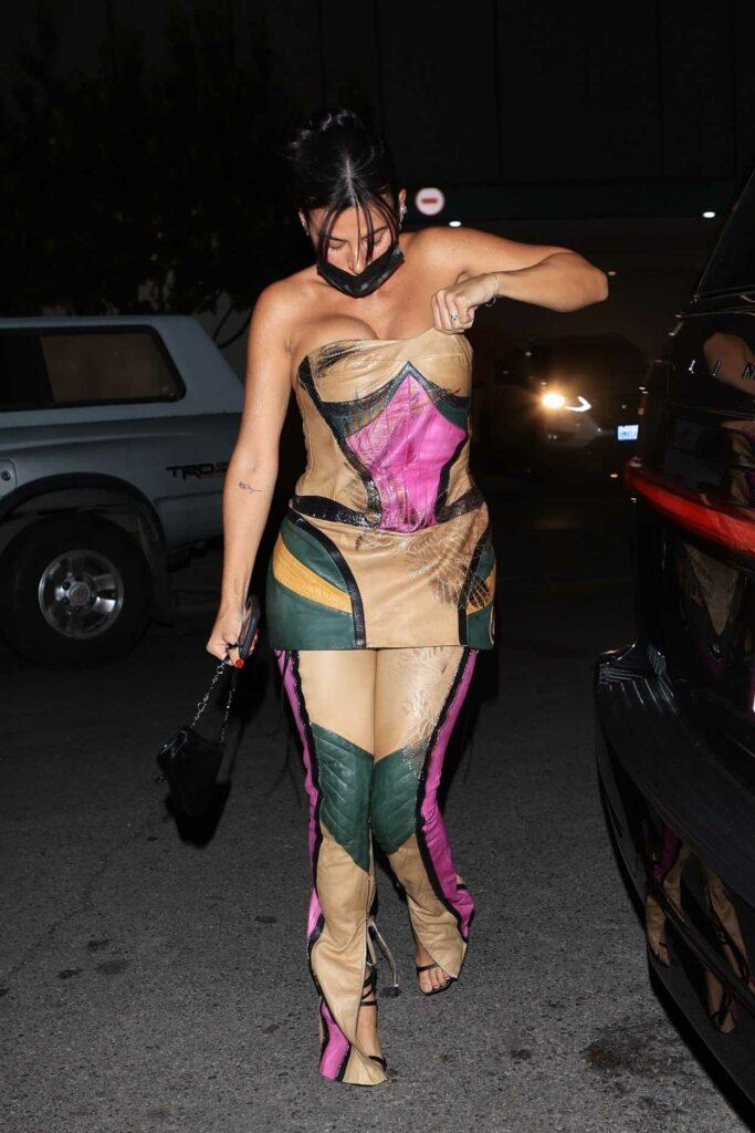 Victoria Villarroel in a Colorful Suit