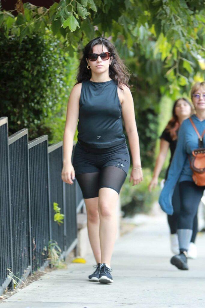 Camila Cabello in a Black Spandex Shorts
