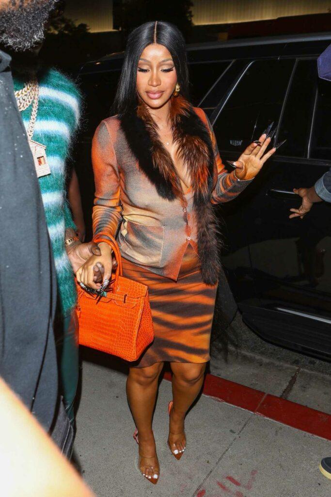 Cardi B in an Orange Outfit